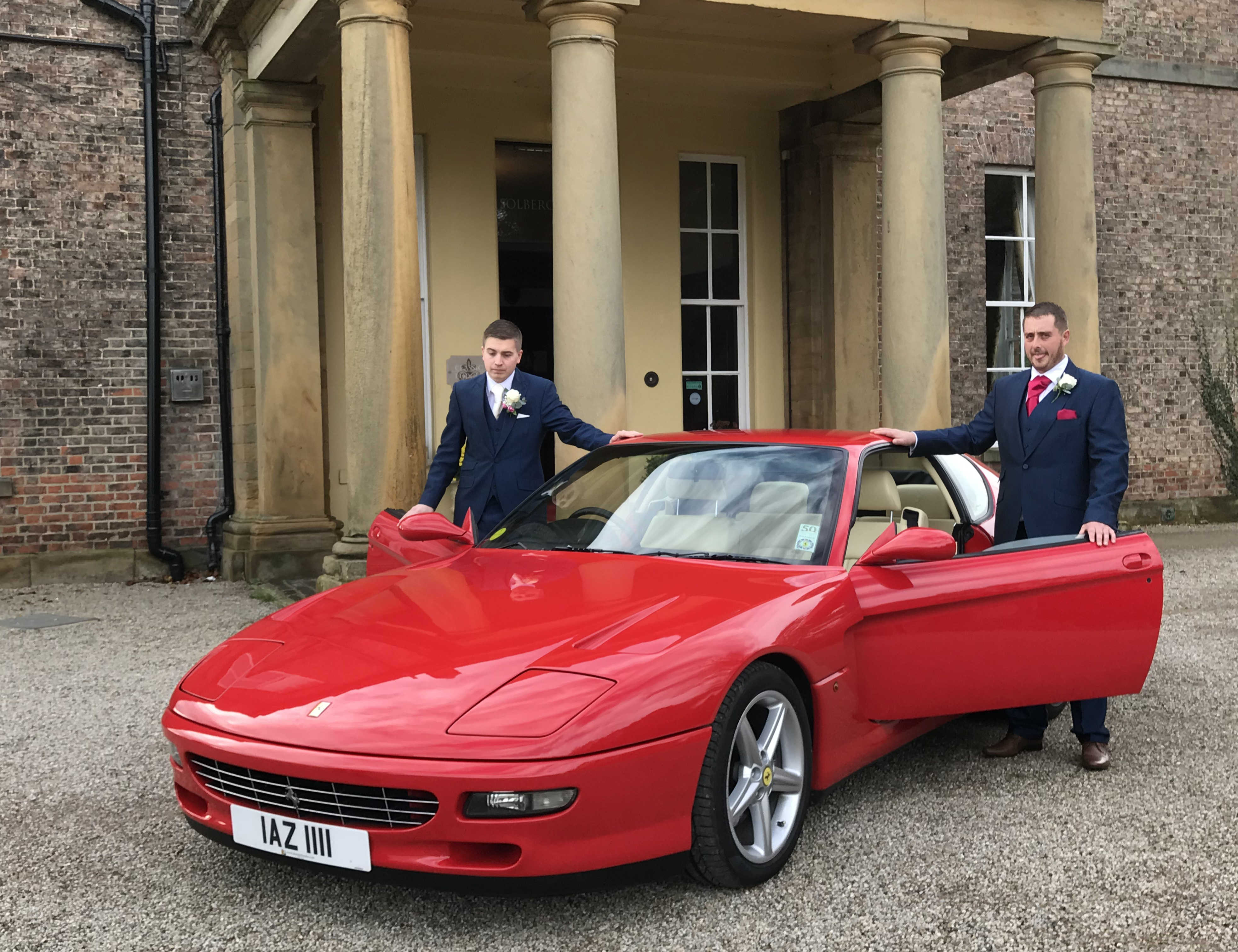 Ferrari 456GT with Groom and Bestman